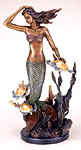 Mermaid and Trio Sea Turtles Sculpture