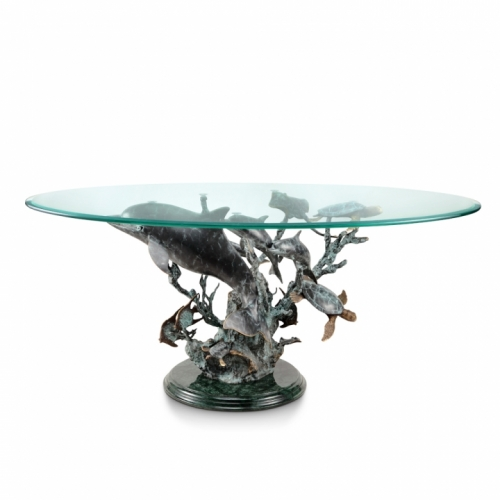 Charmant Fine Art Dolphin, Sea Turtle And Sea Life Coffee Table