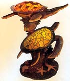 Tiffany Sea Turtle Sculpture with Light #B